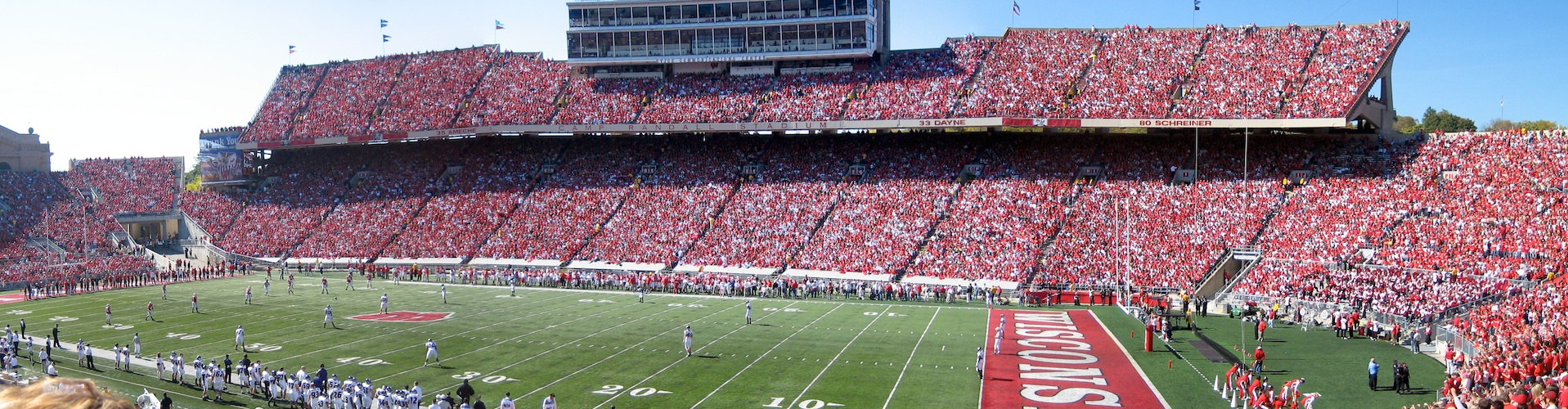 Camp Randall on football Saturday in Madison, Wisconsin.