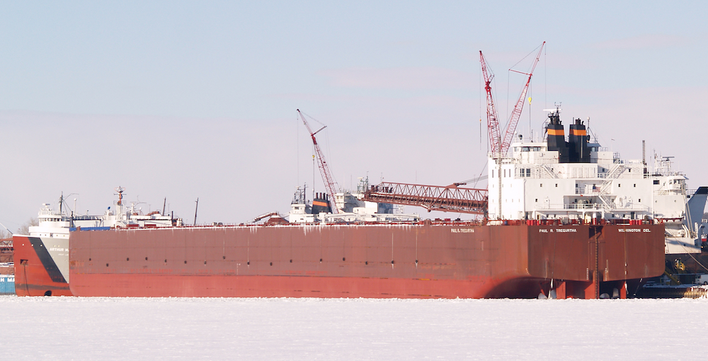 Paul R. Tregurtha Ore tanker in Sturgeon Bay, Wisconsin.