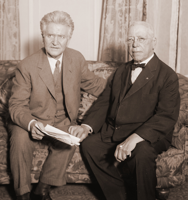 Progressive Party Presidential candidate Robert La Follette with Samuel Gompers in 1924.