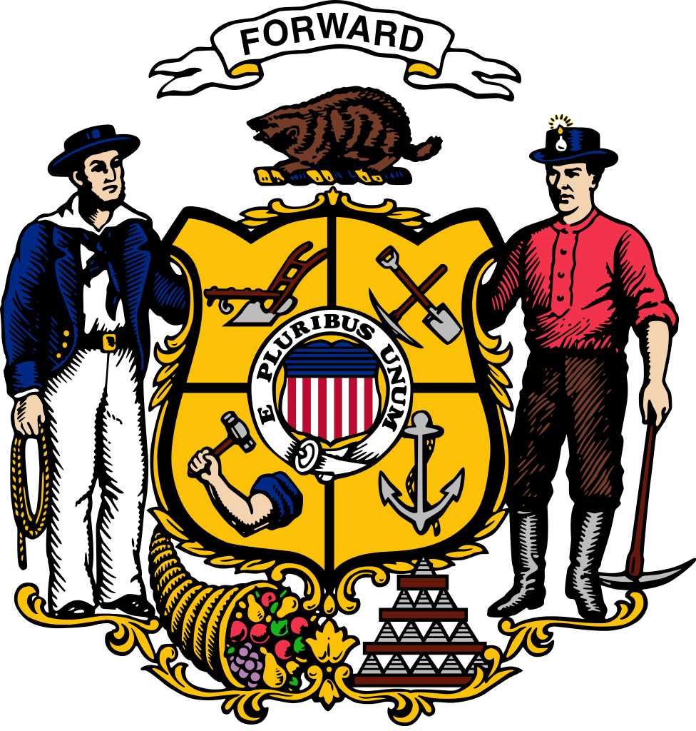 Wisconsin State Coat of Arms.