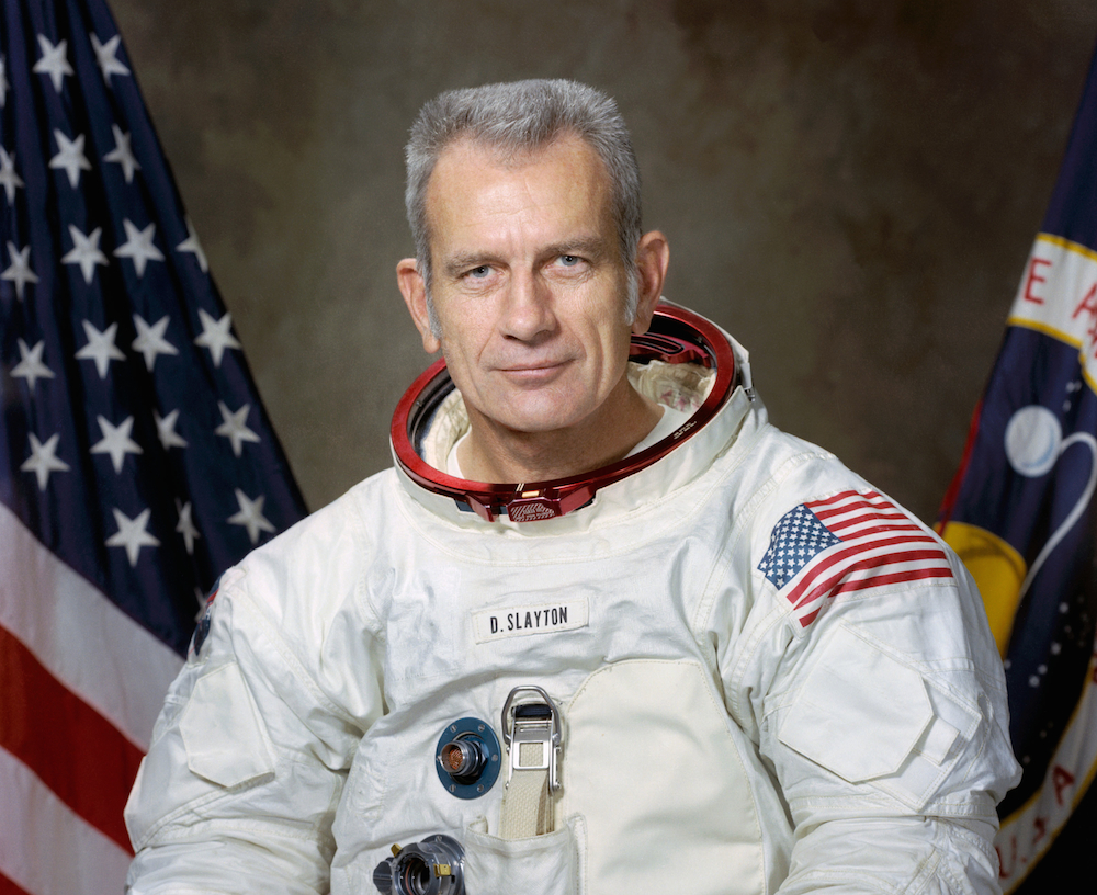 Deke Slayton was born on March 1, 1924 in Sparta, Wisconsin.