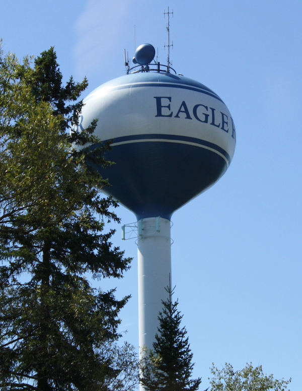 Eagle River, Wisconsin watertower.