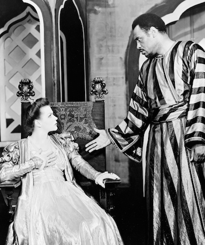 Uta Hagen in Othello as Desdemona with Paul Robeson as Othello, Theatre Guild Production, Broadway, 1943-1944.