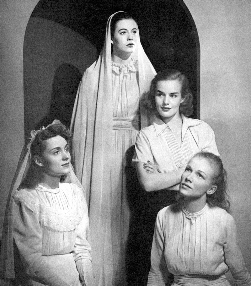 Martha Scott, Uta Hagen, Frances Farmer and Julie Haydon in Stage Magazine publicty shot for their role contributions to the 1938 theater season.