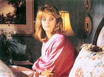 Promotional shot of a possessed Marlena, played by Deidre Hall, in an 90s episode of Days of our Lives.