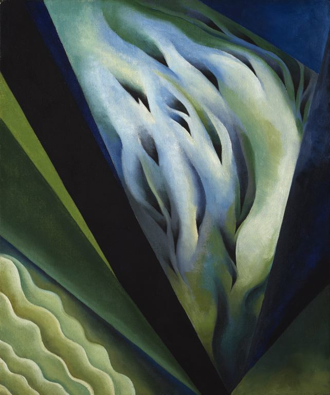 Blue Green Music by Georgia O'Keeffe, 1921.