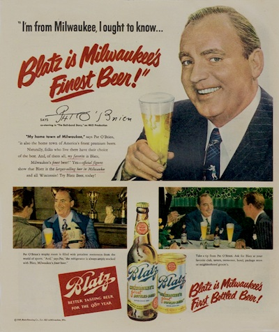 Pat O'Brien in Blatz Beer ad.
