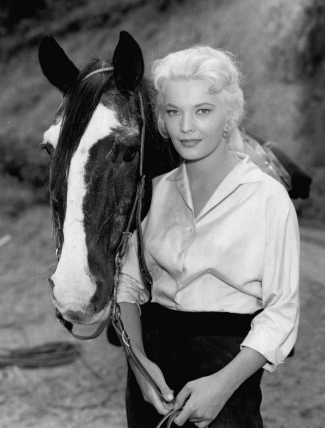 Gena Rowlands as a guest star on the television program Laramie
