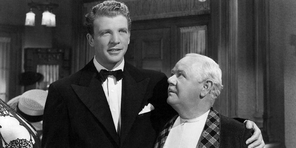 Charles Winninger with Dan Dailey from a Give My Regards to Broadway movie still.